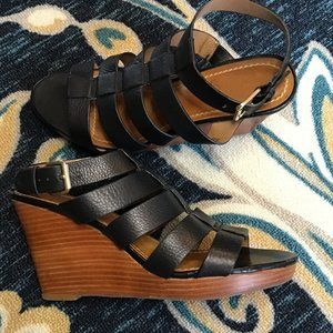Ann Taylor Loft Tapered Wedge Heels Size 7